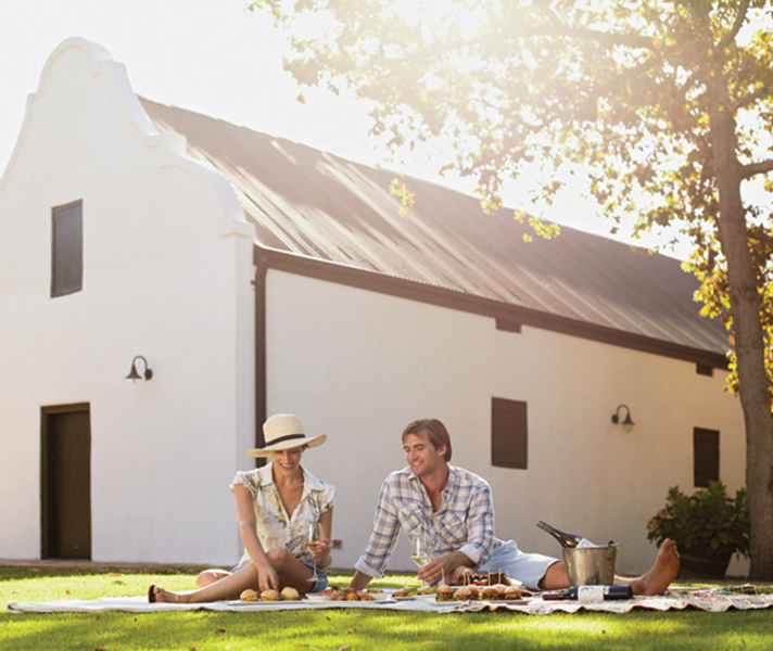 Enjoy a picnic at a classic gabled wine estate - like Spier in Stellenbosch - and soak up the gourmet food & wine experience.