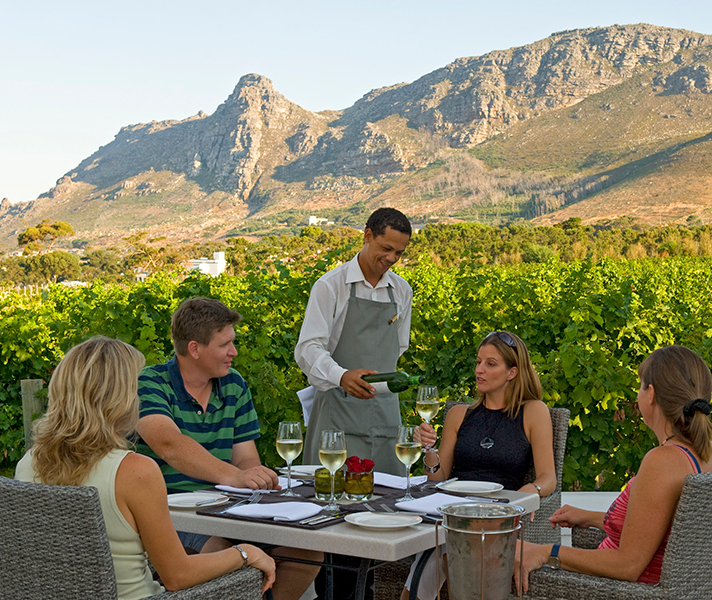 Steenberg in the Constantia Winelands is well known for its excellent cuisine.
