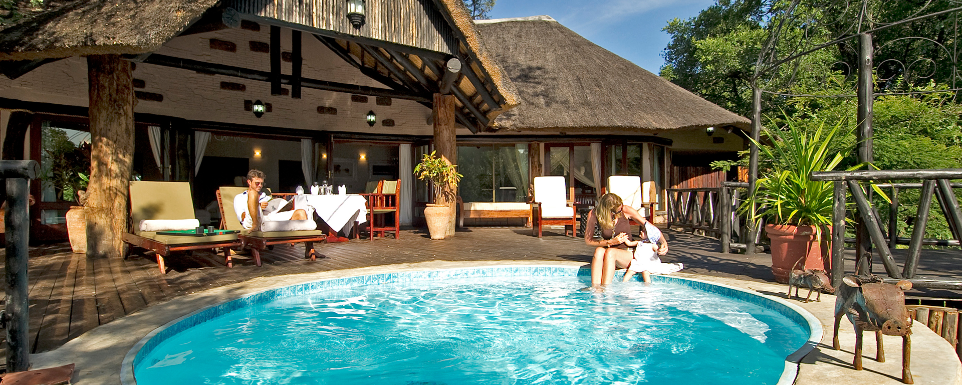 Sanctuary Chuma House is ideal for families wanting a river-side safari experience, close to Victoria Falls.