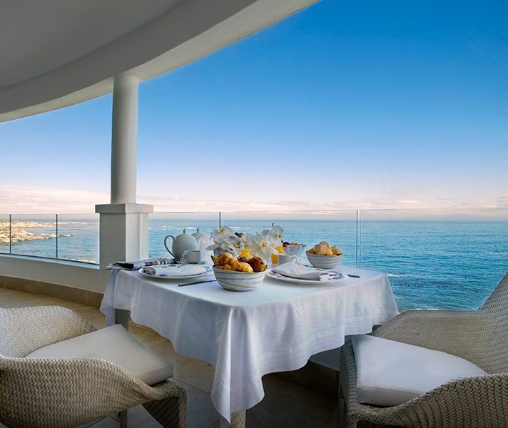 Enjoy breakfast on the verandah while you overlook the ocean.