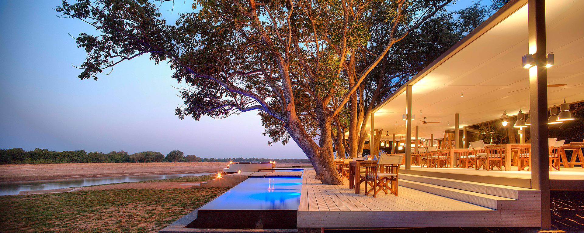 At Africa's premium lodges - like Chinzombo in Zambia - the dining areas are as spectacular as the menu.