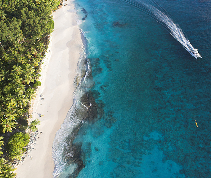 The Seychelles are strung with some of the world's most exquisite - largely deserted - beaches.