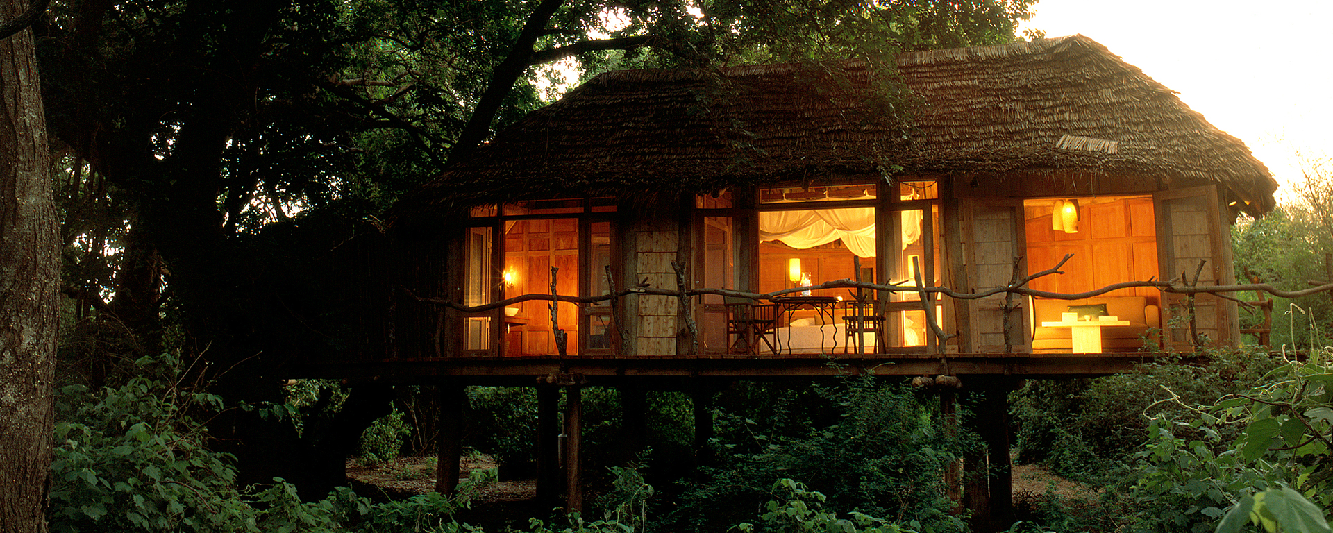 Lake Manyara Tree Lodge in Tanzania specialises in secluded love-nest tree houses for grown-ups.