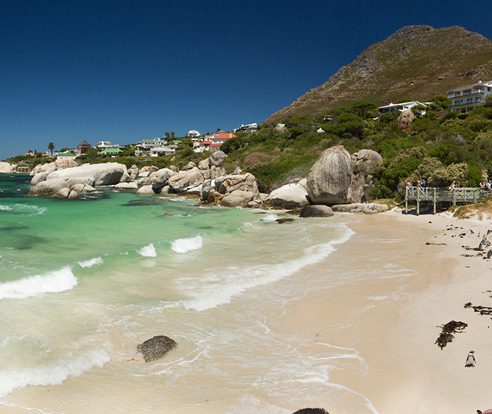 Cape Town's gorgeous sunny beaches are popular recreation spots for locals and visitors alike.