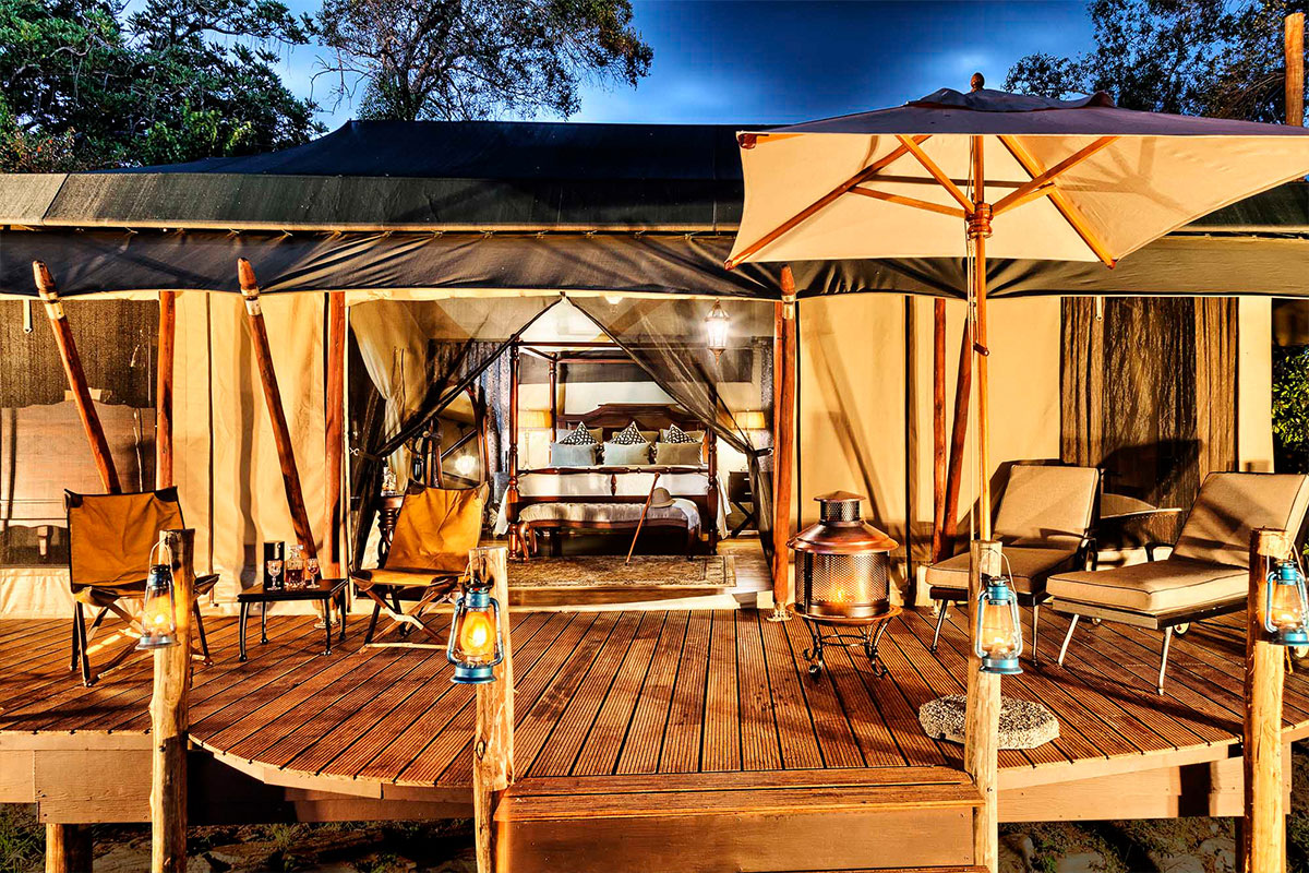 Sand River Masai Mara Tented Camp, perfectly located for the Wildebeest Migration