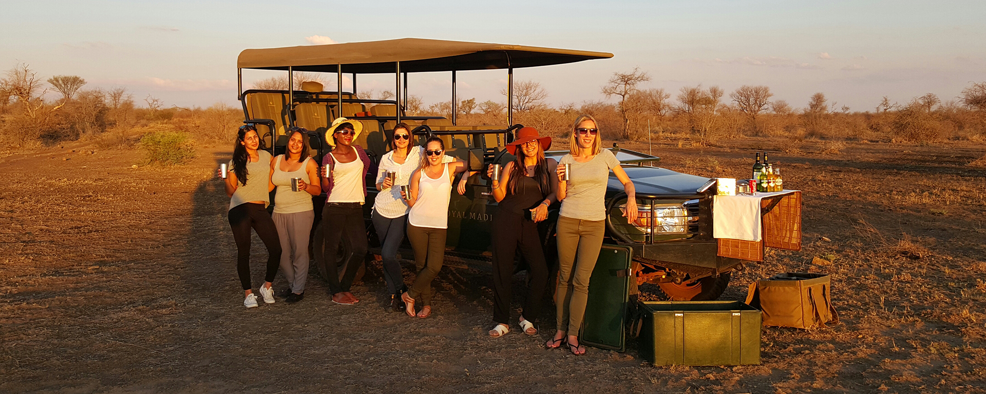 Our African Safari Experts enjoying a game-drive in Madikwe Game Reserve, South Africa.
