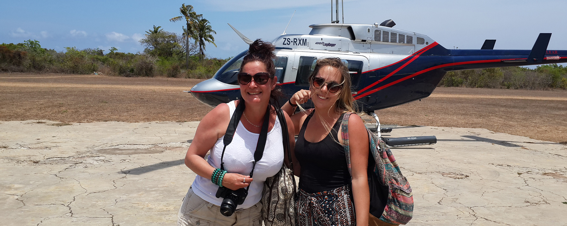 Azura Quilelea is on a private island in the Quirimbas and, as Lauren and Tatham found out, the only way to get there is by helicopter!