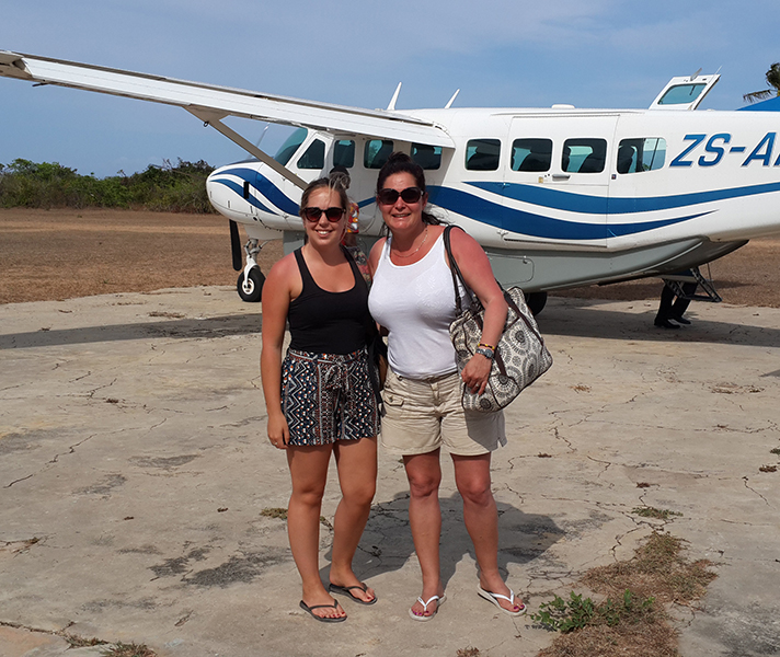 The history of Ibo Island was fascinating and from there Tatham and Lauren jetted off to Anantara Medjumbe.