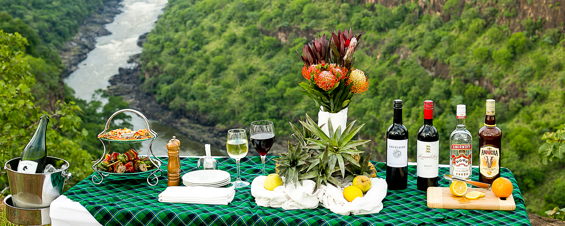A scene set for romance: a secret Victoria Falls location.