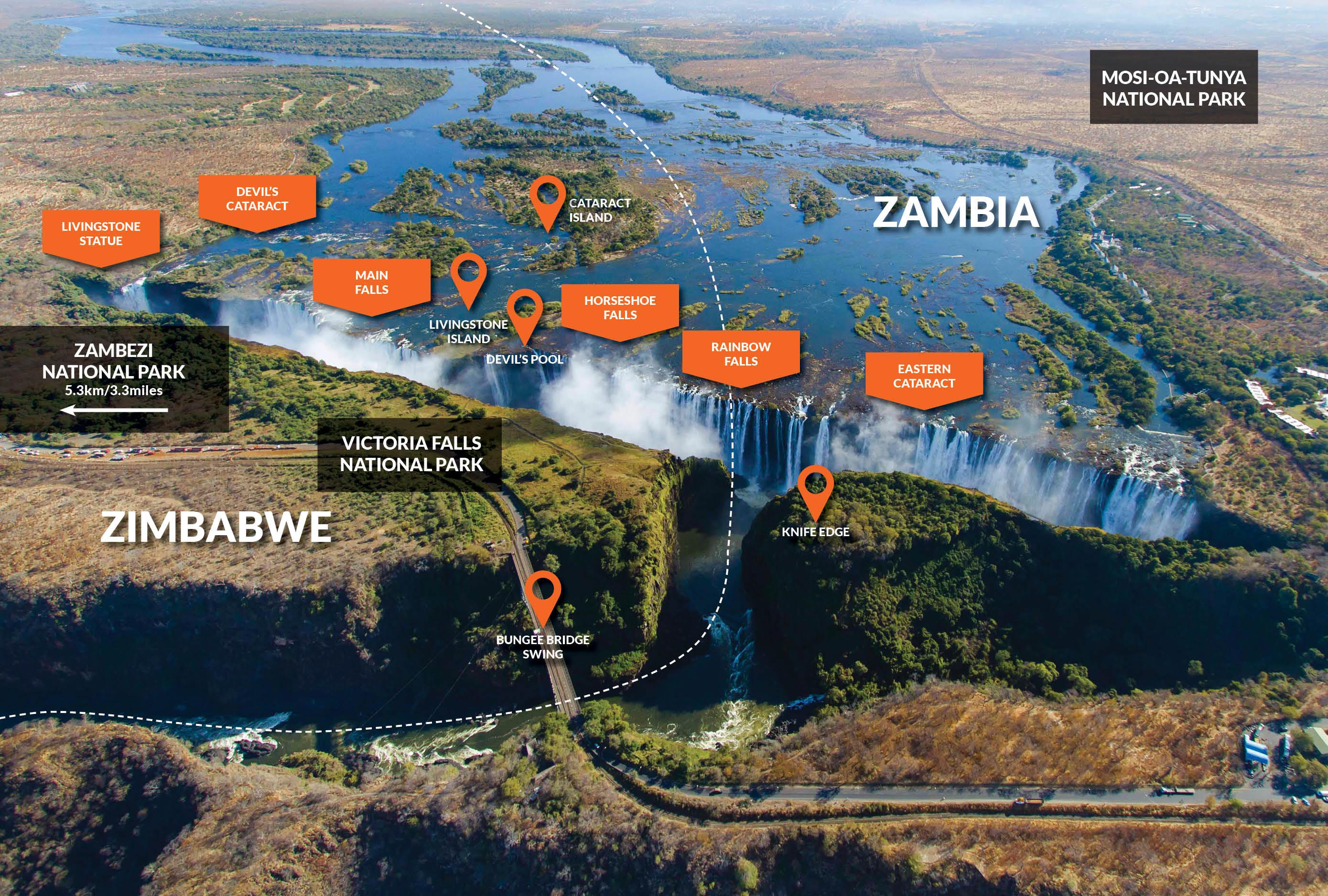 Map Of Livingstone Island Zambia