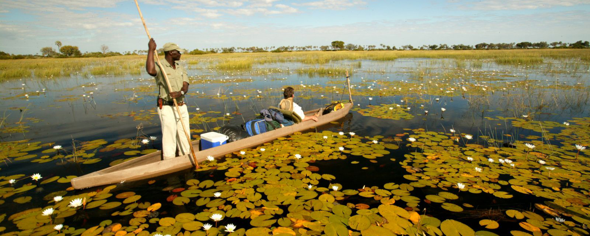 Being poled along in a mokoro is one of the Delta's most blissful solo experiences.