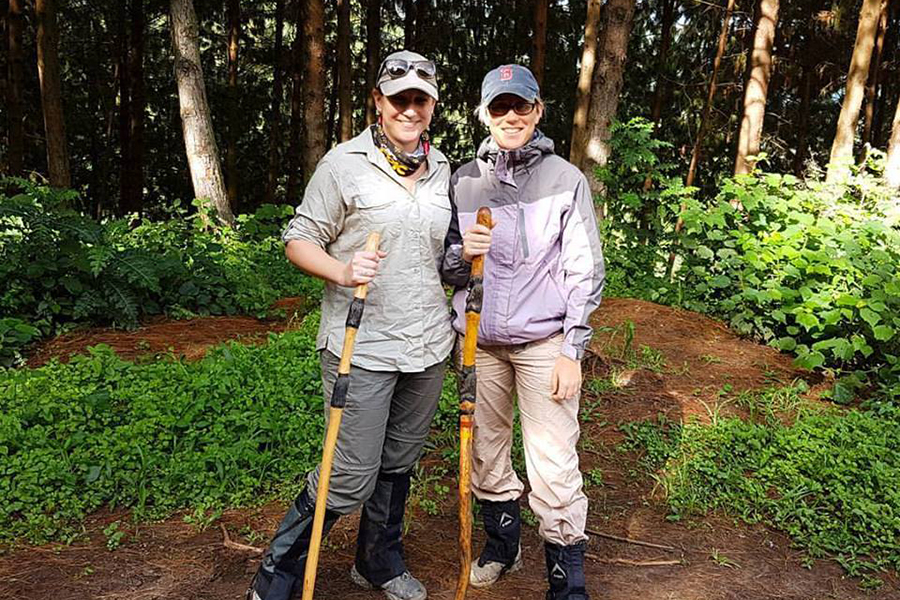 Our Africa Safari Experts gorilla trekking inUganda's Bwindi Impenetrable Forest National Park