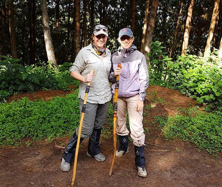 Go2Africans Tracy and Bonita gorilla trekking in Uganda...