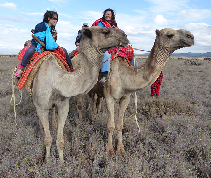 Our client Lea and her daughter loved their time in Laikipia and Lewa, which they experienced from the back of dromedary camels and a restored open cockpit biplane.