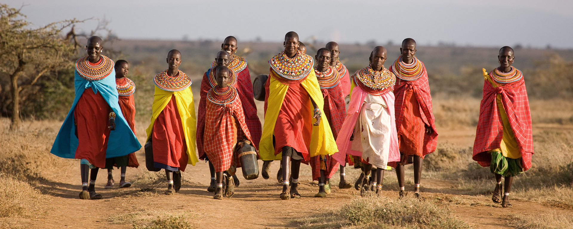 Samburu women set off to collect fresh water at Ol Malo. Laikipia and Lewa are full of successful community projects that aim to benefit as many parties as possible.