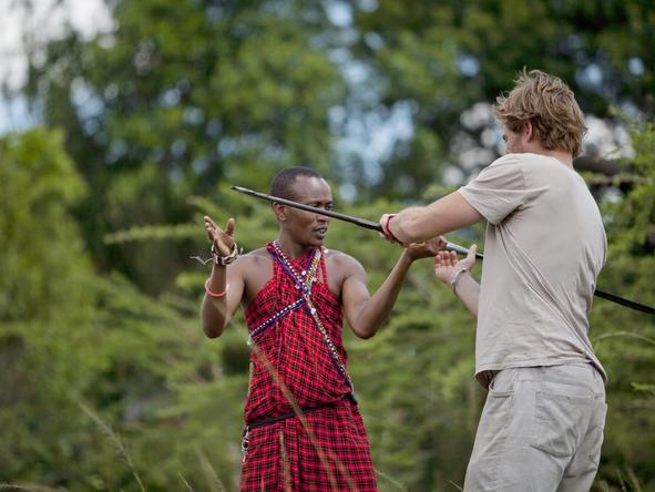 Masai people at Ngare Serian