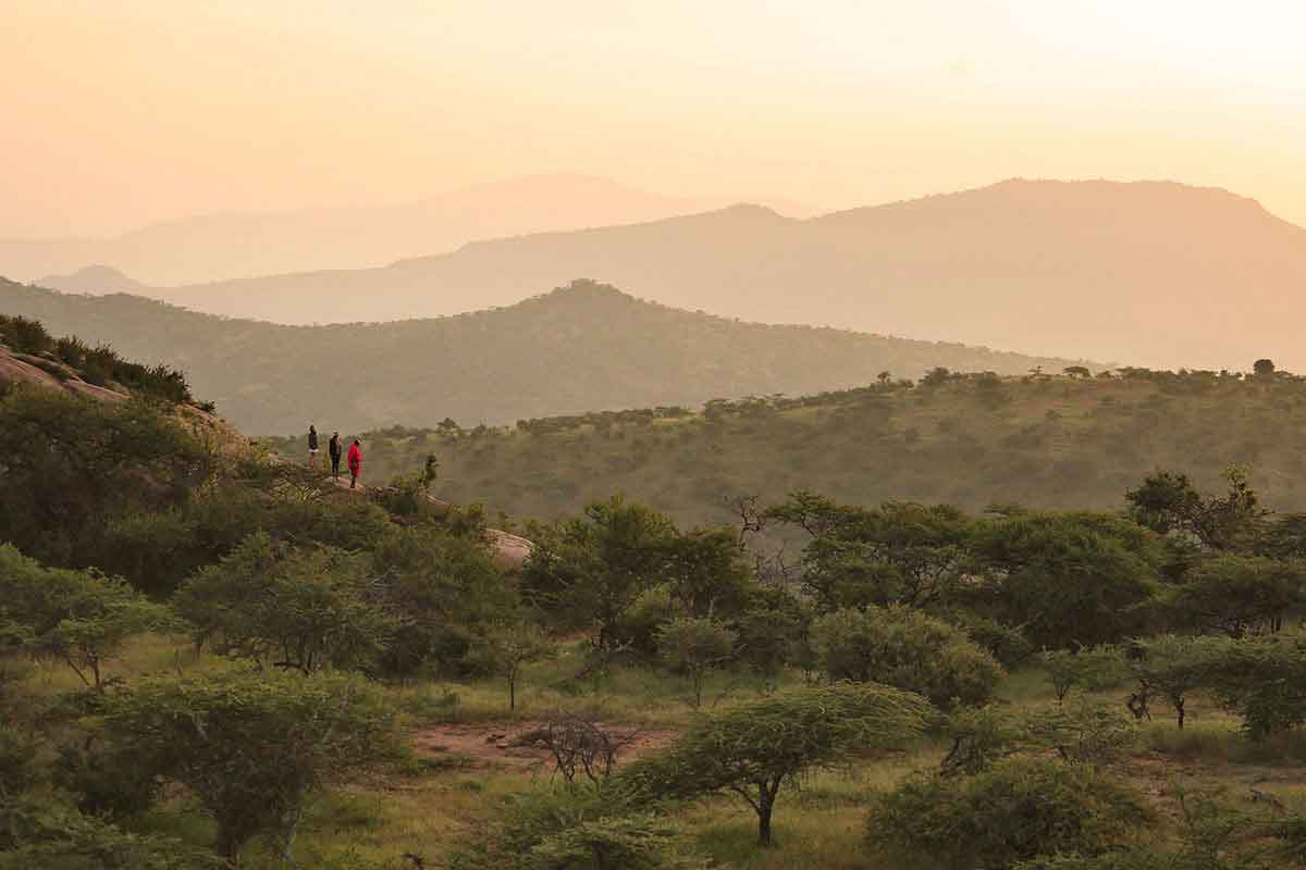 Spectacular view of the Laikipia region.