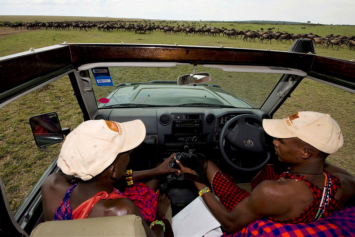 2 Maasai driver-guides in the Masai Mara, Kenya