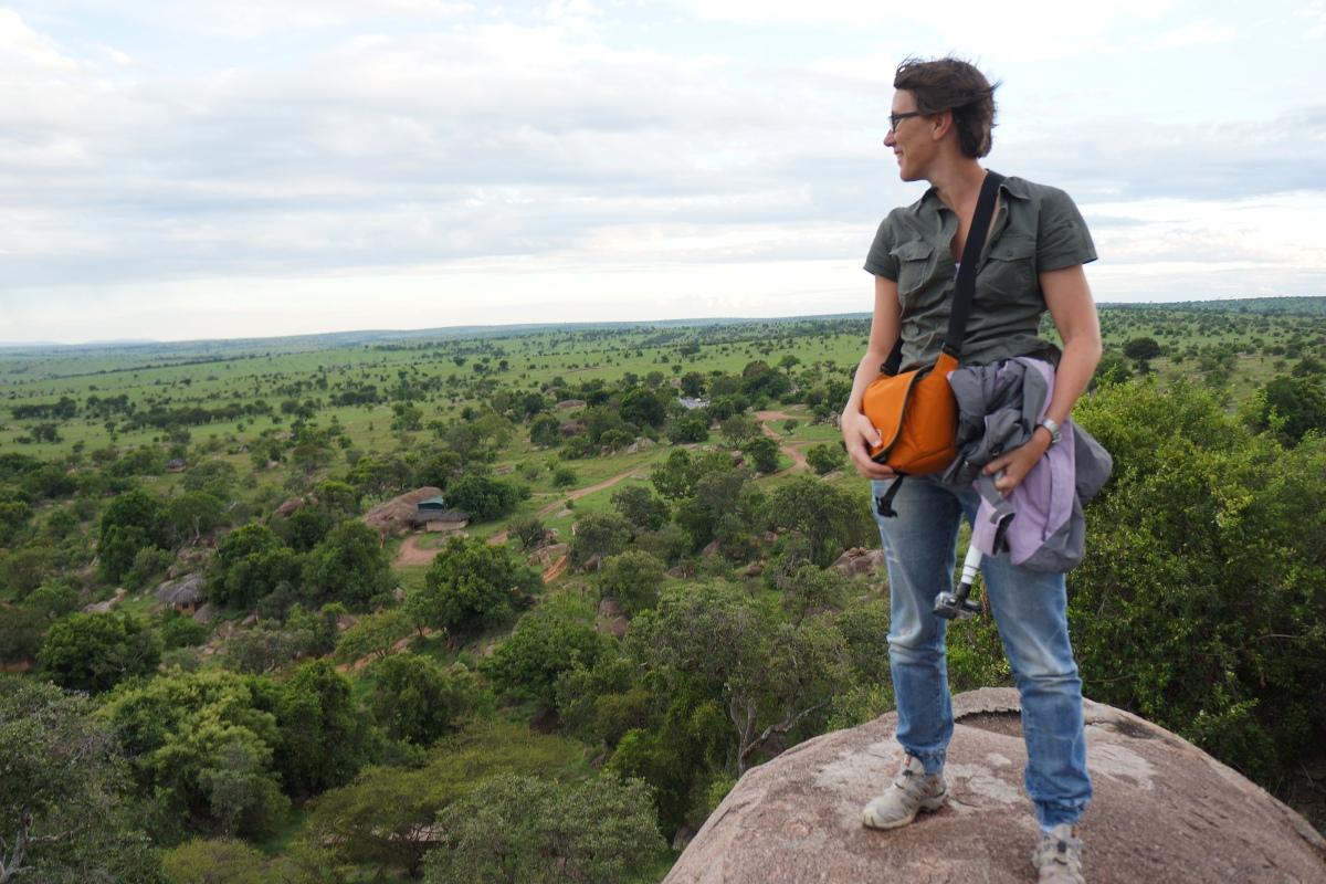 Our Africa Safari Expert, Bonita overlooking the Serengeti, Tanzania