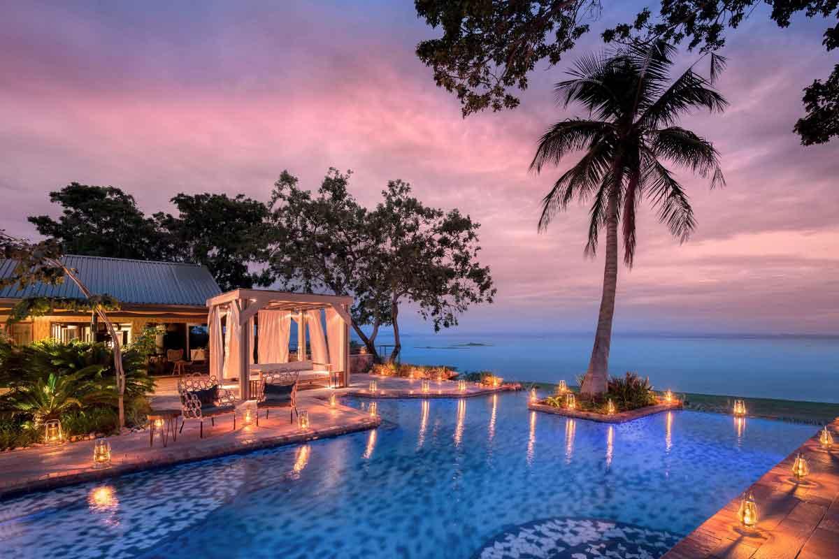 A swimming pool with a view at Bumi Hills Safari Lodge , Zimbabwe