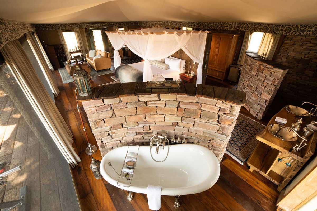The exquisite Mpala Jena Suite, within the Zambezi National Park.