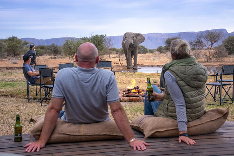 Explorers-Camp-Sundowners-&-elephants