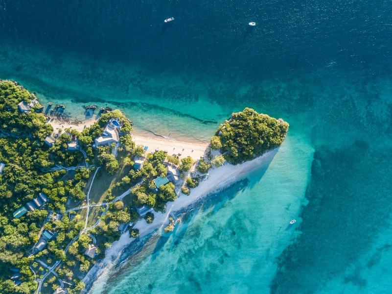 Aerial view of Azura Quilalea in the Quirimbas Archipelago, Mozambique   Go2Africa