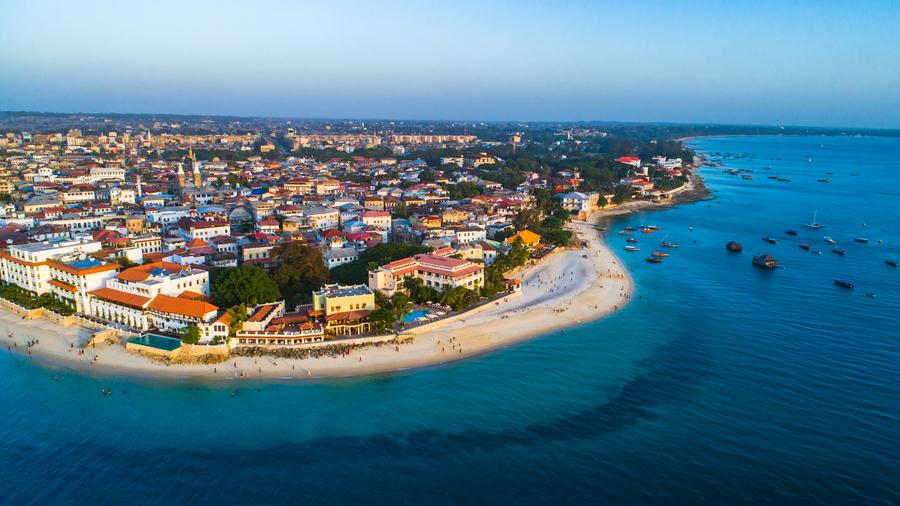 Aerial view of Stone Town, Zanzibar   Go2Africa